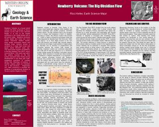 Newberry  Volcano: The Big Obsidian Flow