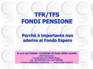TFR/TFS  FONDI PENSIONE