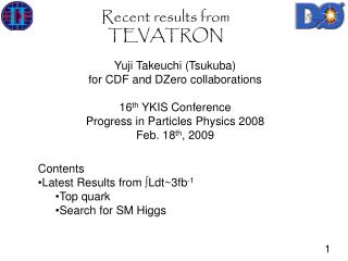 Recent results from TEVATRON