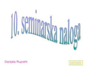 10. seminarska naloga