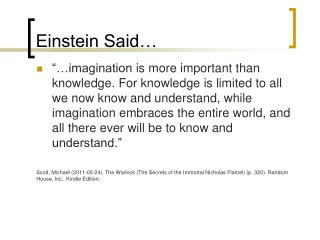 Einstein Said…
