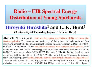 Radio – FIR Spectral Energy Distribution of Young Starbursts