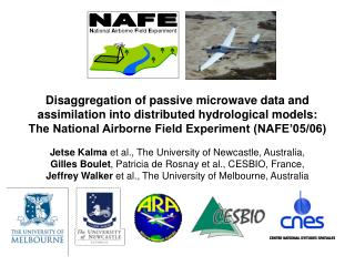 Disaggregation of passive microwave data and  assimilation into distributed hydrological models: