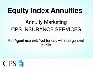 Equity Index Annuities