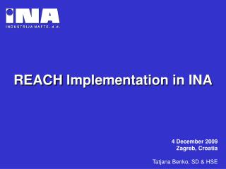 REACH Implementation in INA