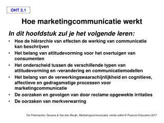 Hoe marketingcommunicatie werkt