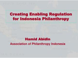 Creating Enabling Regulation for Indonesia Philanthropy