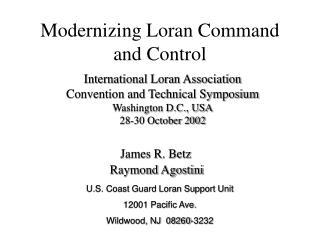 Modernizing Loran Command and Control