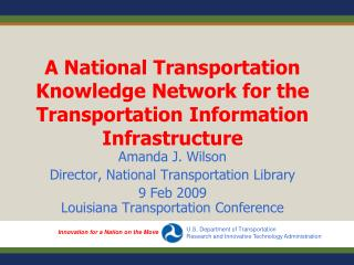A National Transportation Knowledge Network for the Transportation Information Infrastructure
