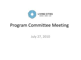 Program Committee Meeting