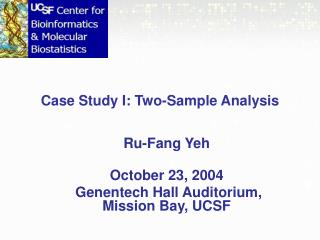 Case Study I: Two-Sample Analysis
