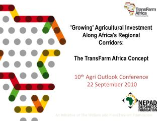 Africa�s agriculture challenges  and potential