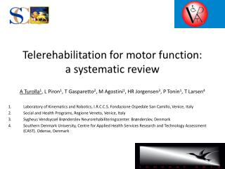 Telerehabilitation for motor function: a systematic review