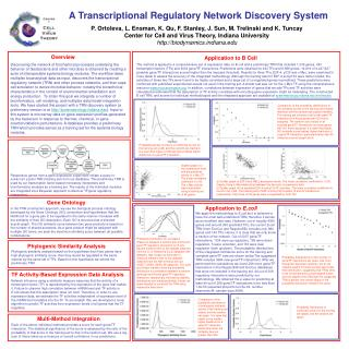 A Transcriptional Regulatory Network Discovery System