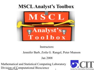 MSCL Analyst s Toolbox