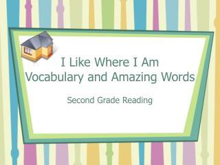 I Like Where I Am Vocabulary and Amazing Words
