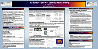 The neuroscience of social understanding John Barresi Dalhousie University