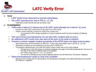 LATC Verify Error