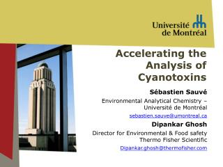 Accelerating  the  Analysis  of  Cyanotoxins