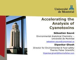Accelerating  the  Analysis  of  Cyanotoxins