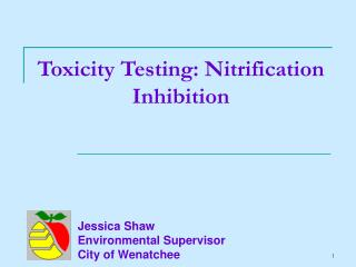 Toxicity Testing: Nitrification Inhibition