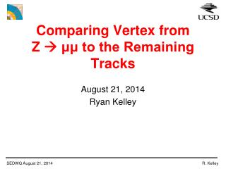 Comparing Vertex from  Z    μμ to the Remaining Tracks