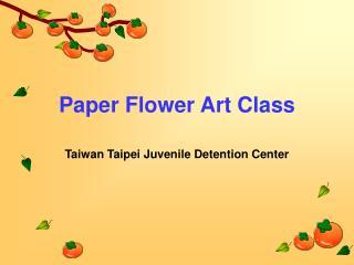 Paper Flower Art Class