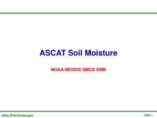 ASCAT Soil Moisture NOAA NESDIS SMCD EMB