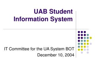 UAB Student Information System