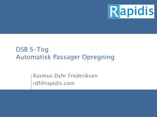 DSB S-Tog  Automatisk Passager Opregning