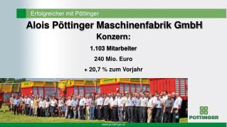 Konzern: 1.103 Mitarbeiter 240 Mio. Euro + 20,7 % zum Vorjahr