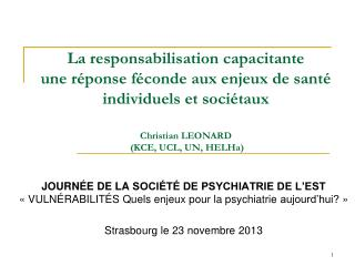 CONDITIONS INDIVIDUELLES