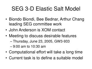 SEG 3-D Elastic Salt Model