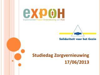 Studiedag Zorgvernieuwing  17/06/2013
