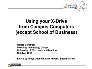 Using your X-Drive from Campus Computers  (except School of Business)
