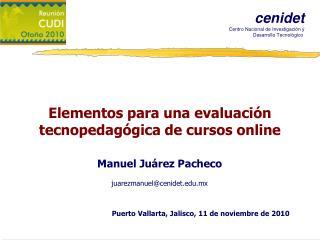 Elementos para una evaluación tecnopedagógica de cursos online