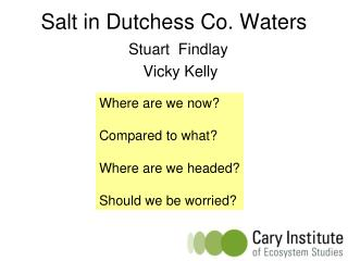 Salt in Dutchess Co. Waters