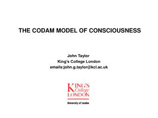 THE CODAM MODEL OF CONSCIOUSNESS