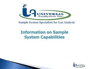 Sample System Specialists for Gas Analysis
