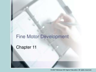 Fine Motor Development
