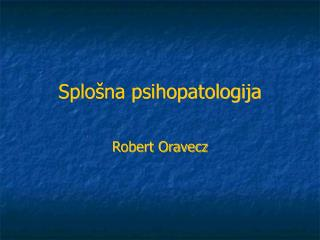Splošna psihopatologija