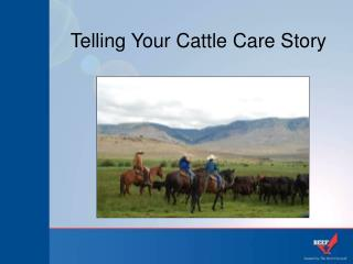 Telling Your Cattle Care Story