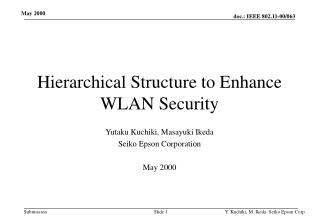 Hierarchical Structure to Enhance WLAN Security