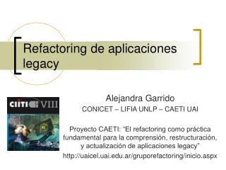 Refactoring de aplicaciones legacy