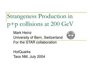 Strangeness Production in p+p collisions at 200 GeV