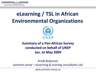 eLearning / TSL in African Environmental Organizations