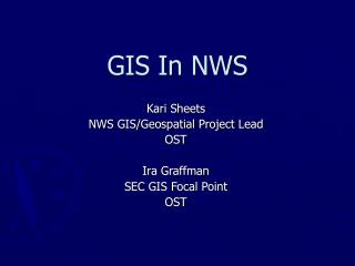 GIS In NWS