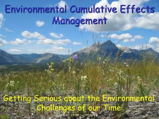 Environmental Cumulative Effects Management