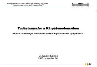Dr. Kovács Kálmán  2010. november 18.