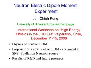 Neutron Electric Dipole Moment  Experiment